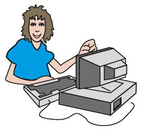 Илюстрация на компютърен оператор